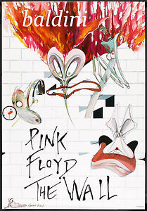 PINK-FLOYD-HIGH-QUALITY-EARLY-VINTAGE-1982-CONCERT-POSTER-LOOKS-GREAT-FRAMED