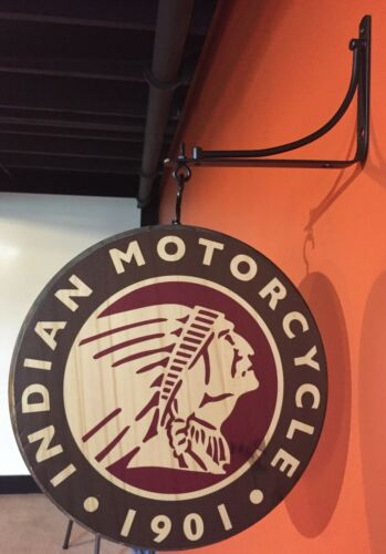 Indian Motorcycle Double Sided Pub Sign