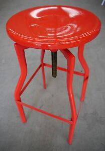 RRP$149 New Replica Turner Industrial Red Metal Swivel Bar Stools Melbourne CBD Melbourne City Preview