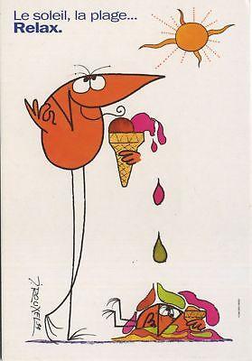 Carte postale Shadoks (Les) Carte publicitaire, Shadock pour Peugeot, 'Le soleil