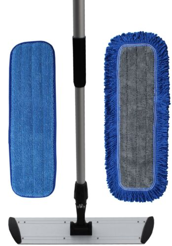 "36"" Ultimate Microfiber Mop Kit |2 Microfiber Mop Pads | Flat Frame | Mop Handle"