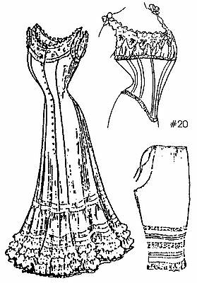 """A Collection of Under Garments Sewing Pattern for a 36""""  Doll LadyDoll 20-36"""