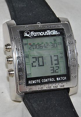 """Famous Trails """"Control Freak"""" Remote Control Watch Mint in Box w/Instructions"""