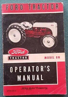 Original 1952 Ford Tractor Model 8n Operators Manual 3729-52-c