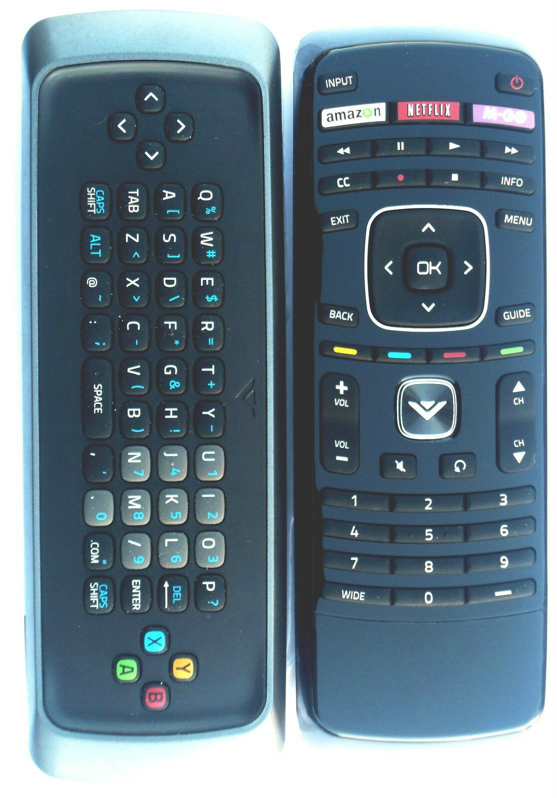 VIZIO Smart TV Keyboard remote for E650iA2 e601i-a3 & e701i-