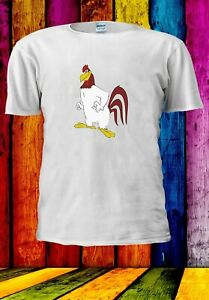 Una-sirena-LIVORNO-Rooster-Cartoon-Divertente-Uomini-Donne-Unisex-T-shirt-3645