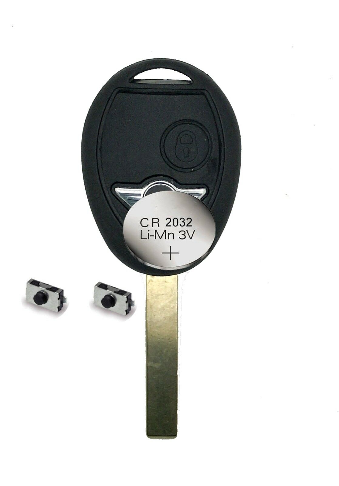 Replacement fits BMW Mini One S 2 Button Remote key FOB Repair Refurbishment Kit
