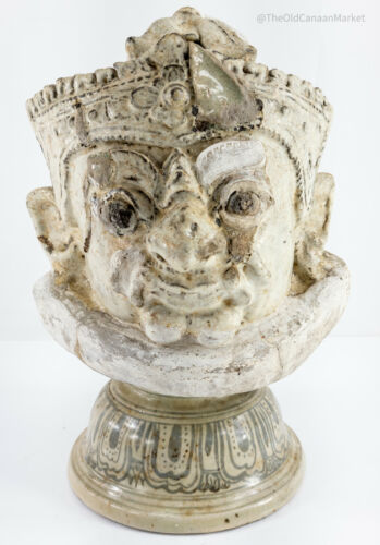 Antique Temple Guardian Thai South East Asian Sawankhalok Ware Pottery