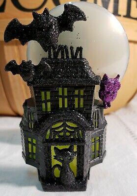 Animated Owl Halloween (Bath & Body Works Halloween HAUNTED HOUSE MOON OWL Wallflower Nightlight Plug)