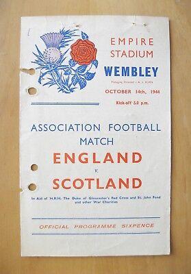 ENGLAND v SCOTLAND 1944 (14/10/44) *Fair Condition Football Programme*
