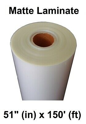 Matte Clear Self-adhesive Pvc Protective Laminate 3yr Vinyl Roll 51 X 150