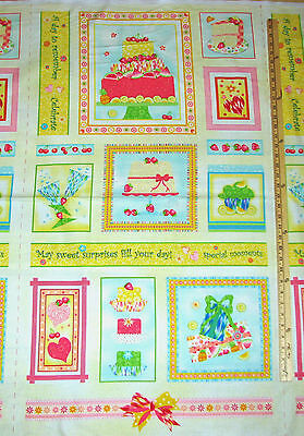 Frosted Fondant Cupcake Cup Cake Dessert Fabric Panel 23