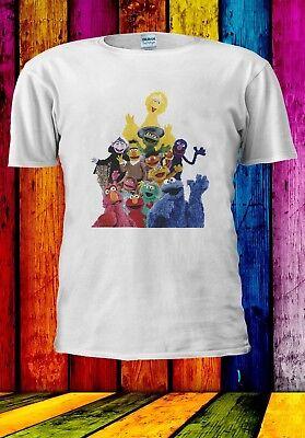 aracters Cookie Monster Elmo Men Women Unisex T-shirt 946 (Mens Sesame Street Shirt)