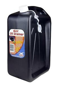 Bell Engine Oil Drainer Draining Waste Can 6 Litres Garage Workshop Equipment