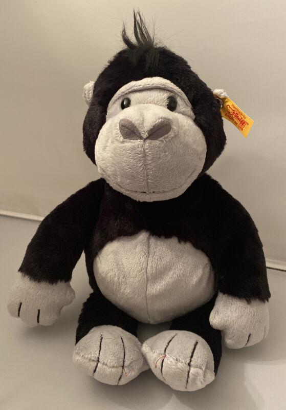 "Steiff Bongy Gorilla Plush Stuffed Animal Soft & Cuddly Friends New w/ Tags 11"""