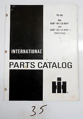 Ih International Harvester Parts Catalog Tc-131 Cub 154 184 185 Lo Boy Tractors
