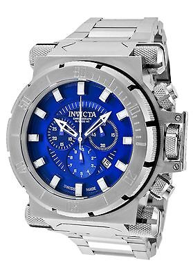 NEW Invicta 1939 Mens Coalition Force Analog Chronograph Blue Dial SS Watch 100m