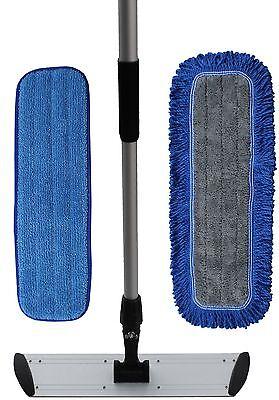 "Ultimate 18"" Microfiber Mop Kit | Microfiber Mop Pads | Flat Frame | Mop Handle"