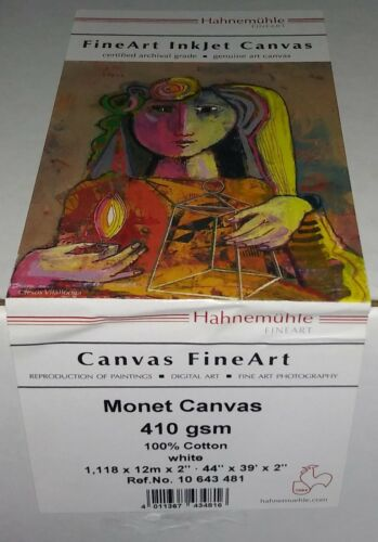 "Hahnemuhle Canvas Fine Art Monet Canvas paper (44"" x 39"