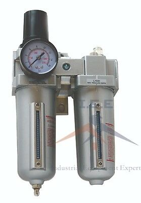 34 Compressed Air Moisture Filter Regulator Oiler Separator Lubricator Combo