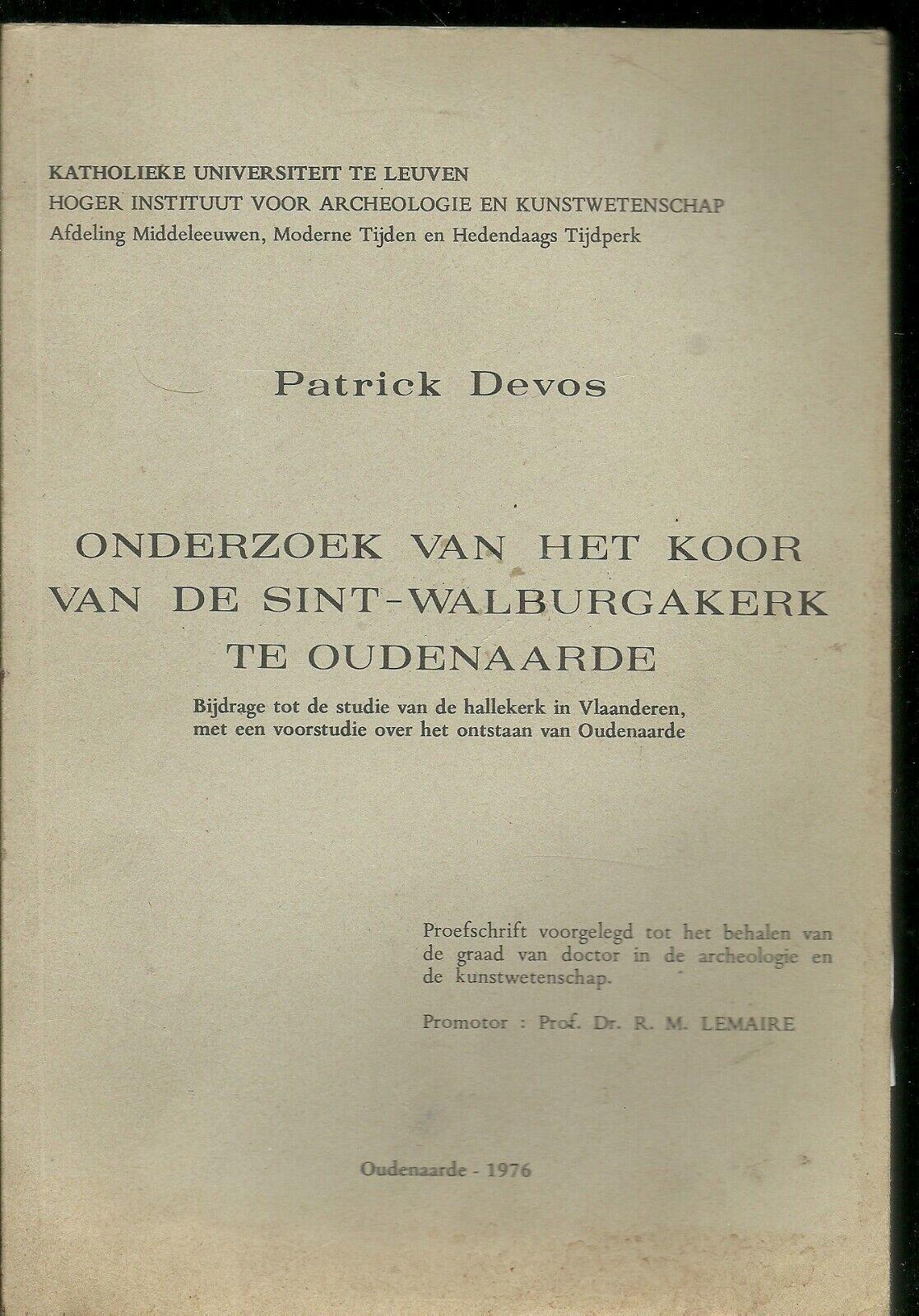 Boek van Patrick De Vos ,,Onderzoek van het koor van de Sint-Walburgakerk te Oud