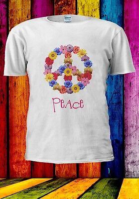 60's Theme (Peace 60's Theme Sixties and Hippie Flower Symbol Men Women Unisex T-shirt)