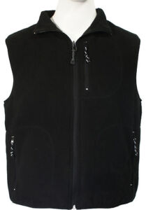 Every-Day-Carry-Fleece-Zip-Up-Sport-Reversible-2-Sided-Vest-Black-or-Charcoal