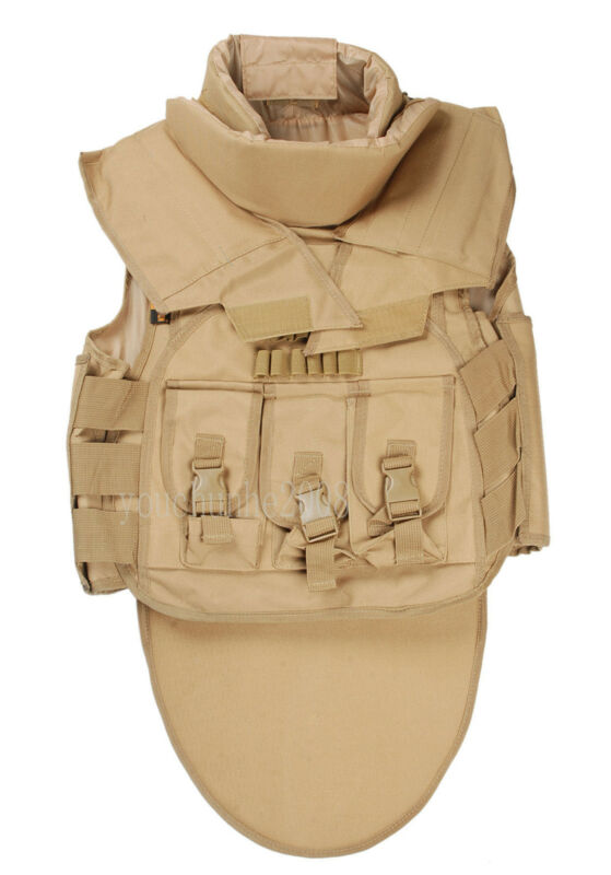 TACTICAL AIRSOFT WARGAME PAINTBALL SDU COMBAT VEST TAN-35111