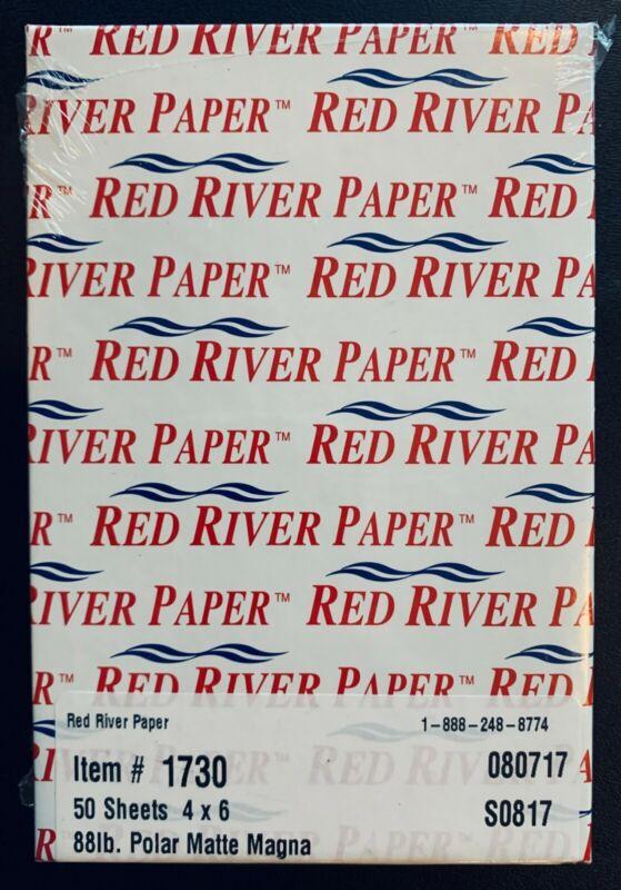 "Red River Photo Paper 50 Sheets 4"" x 6"" 88lb Polar Matte #1730 for Inkjet"