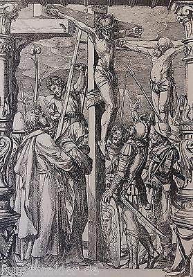 Hans HOLBEIN (1497-1543) Radierung Édouard Lièvre (1828-1886) La Passion 10/10