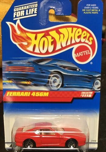 FERRARI 456M, Hot Wheels 1999-1118, Red W/ Tan, 5SP Wheels, NEW On Card - $4.50