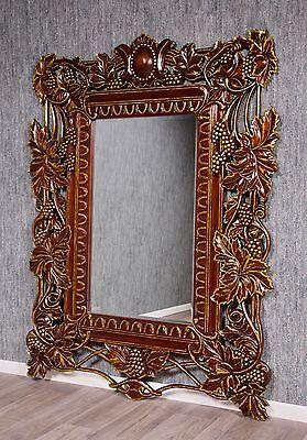 Barroco Espejo de Pared Pie Antiguo Macizo Armario Vestidor Estilo Vintage Las