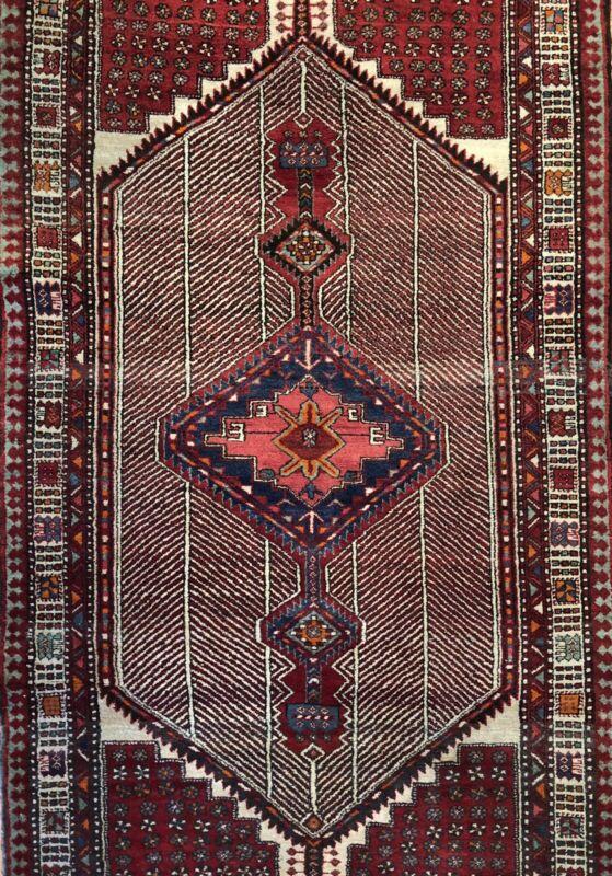 Tremendous Tribal - 1960s Antique Oriental Runner - Camel Hair Rug 3.10 X 7.8 Ft