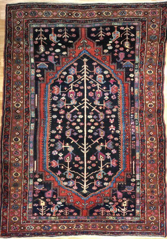 Terrific Tribal - 1900s Antique Oriental Rug - Tree Of Life Carpet - 4.1 X 6 Ft.