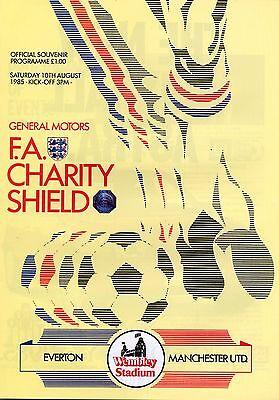 1985 CHARITY SHIELD EVERTON v MAN UTD MINT PROGRAMME MANCHESTER