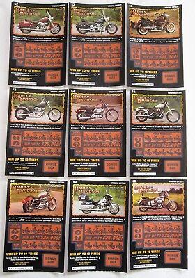 Harley Davidson Va  Instant Sv Lottery Tickets Set 9 Diff
