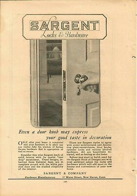 VINTAGE ADS SARGENT LOCKS & HARDWARE AND WESTERN ELECTRIC COMPANY 1923