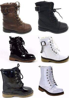 Toddler Baby Girls Combat Fashion Comfortable Boots Shoes Sz 9-13, 1-4](Toddler Girls Combat Boots)