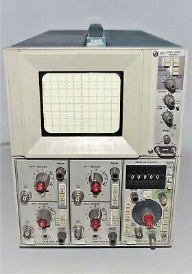 Vintage Tektronix 5403 Analog Oscilloscope 2 Channel Crt Winstruction Manual
