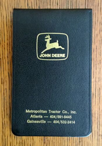 Vintage 1970s John Deere Tractor Notepad Pocket Notebook Pad NOS Atlanta Georgia