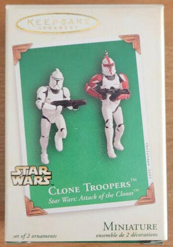 2003 STAR WARS HALLMARK KEEPSAKE ~ CLONE TROOPERS ~ Mini Ornaments ~ UNOPENED