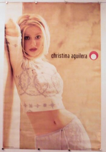 """CHRISTINA AGUILERA - LEANING ON WALL -vintage 23"""" X 35"""" NOS (b107)"""