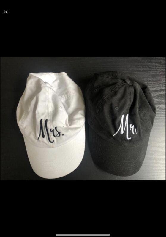 Mr and Mrs Hats Bride Wedding Groom