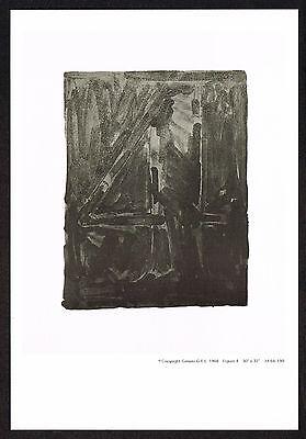 1960s Vintage Jasper Johns Number 4 Four Offset Litho Miniature Promo Art Print