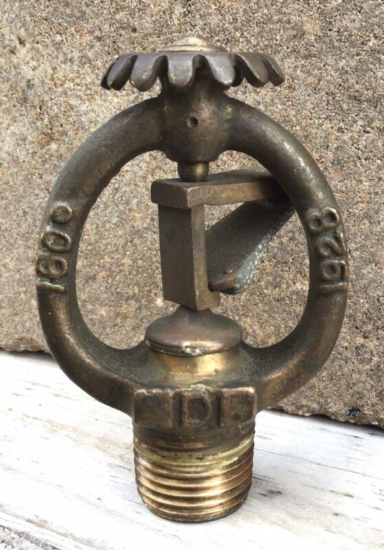 Antique Vintage Brass 1928 Rockwood Fire Sprinkler Head Model D 160* Worchester