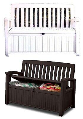 Outdoor Furniture Storage Deck Box Keter 60 Gallon Patio Pool Bench Seat ()