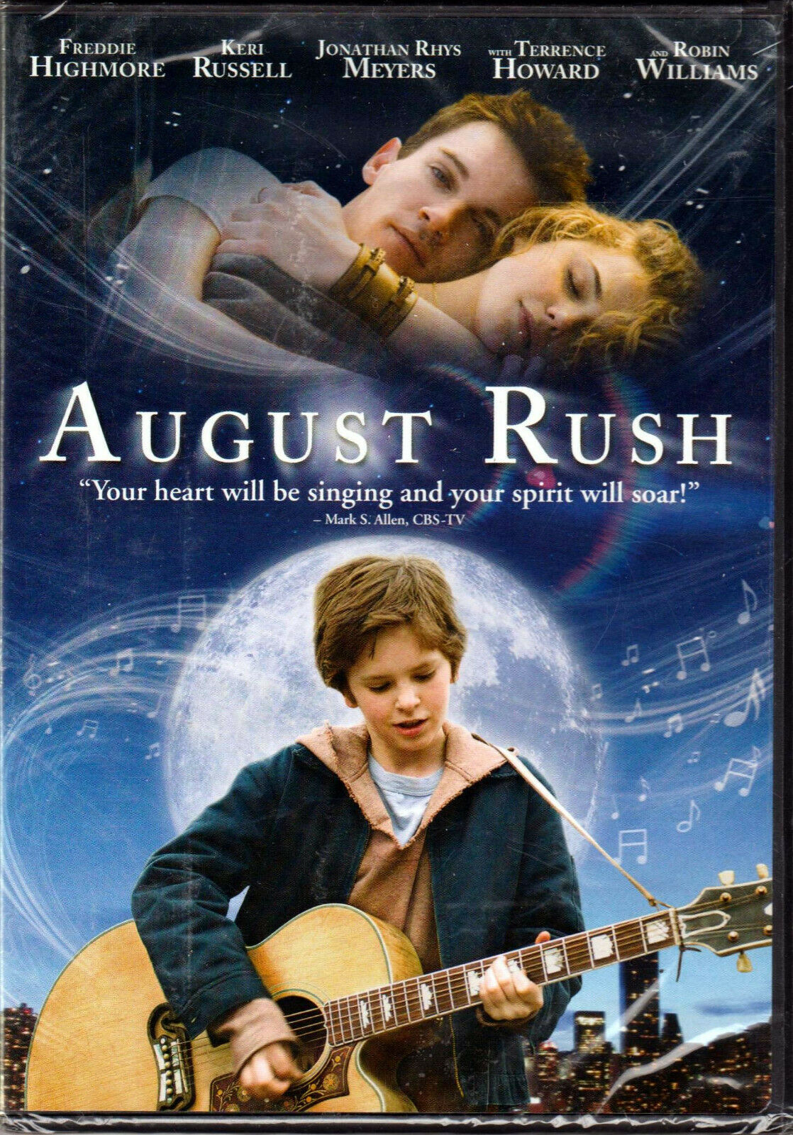 AUGUST RUSH on DVD of GUITAR PLAYER Kid ORPHAN Family MUSIC
