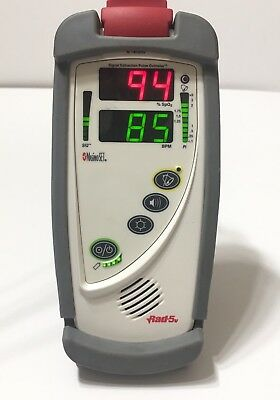 Masimo Rad-5v Handheld Pulse Oximeter With Finger Sensor