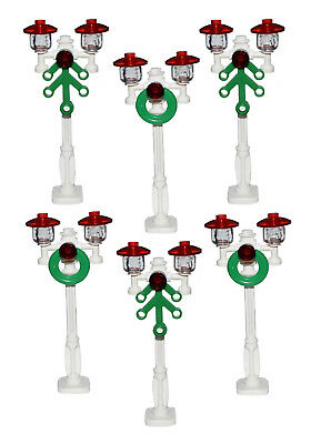 ☀️NEW! Lego City/Town/Village White STREET LIGHT Lamp Post X6 NEW Victorian XMAS ()
