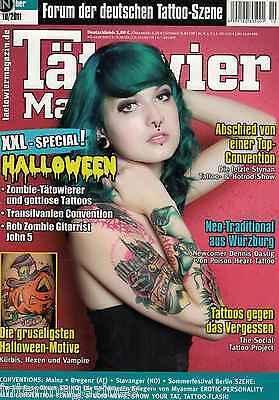 Tätowier Magazin 10/2011 Oktober,Halloween Motive,Dennis Dastig,Carl Löfquist
